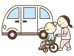 通所介護の送迎のイメージ
